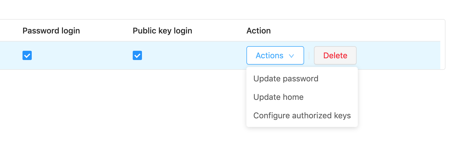 Adding SSH authorized keys to a user for SFTP - DocEvent io Help Center